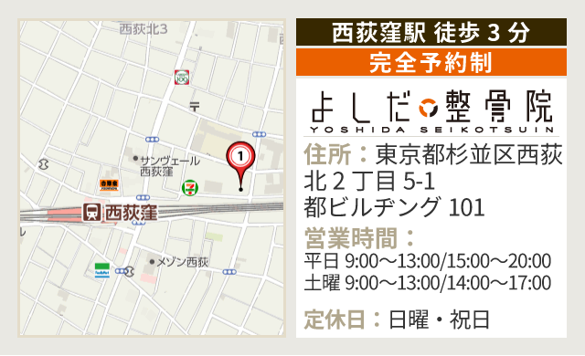 西荻窪駅 徒歩3分 MAP